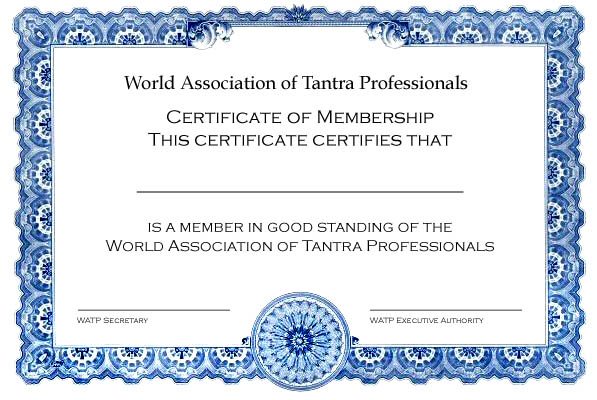 tantra certification